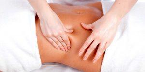 Drenaje linfatico manual estomago mujer